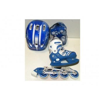 Коньки комбинированные 3в1 синие