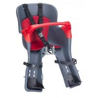 Велокресло детское HTP Kiki Grey переднее